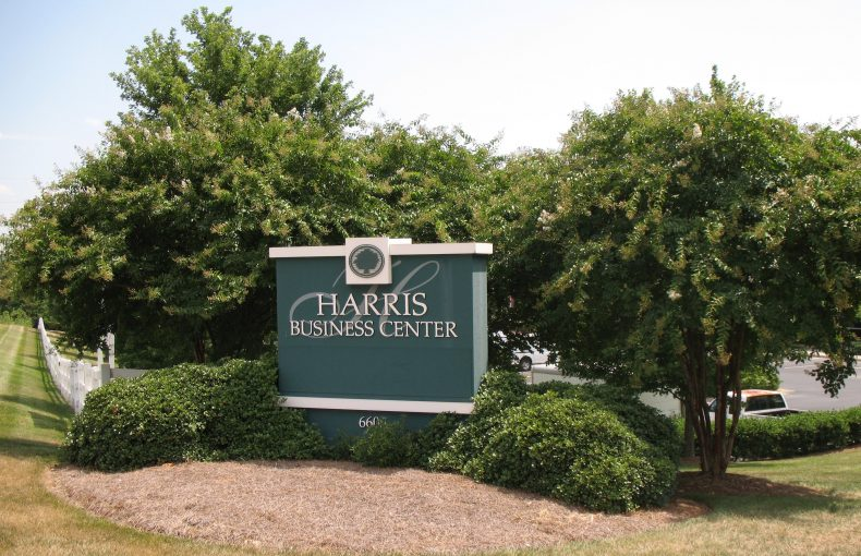 Harris  Business  Center  Sign